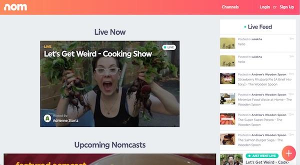 Nom, streaming en vivo sobre gastronomía