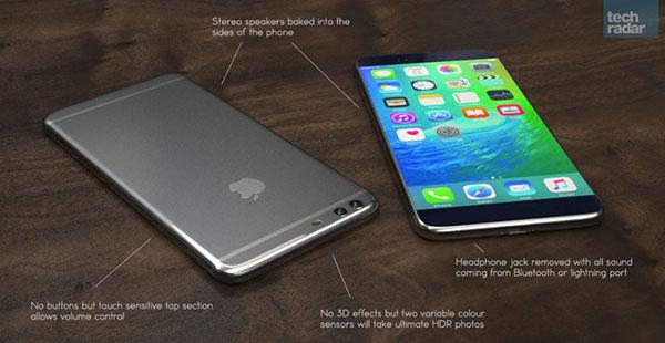 Esquema del iPhone 7 según el sitio web Tech Radar