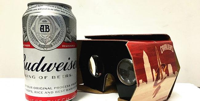 Budweiser lanza un packaging que hace de casco de realidad virtual