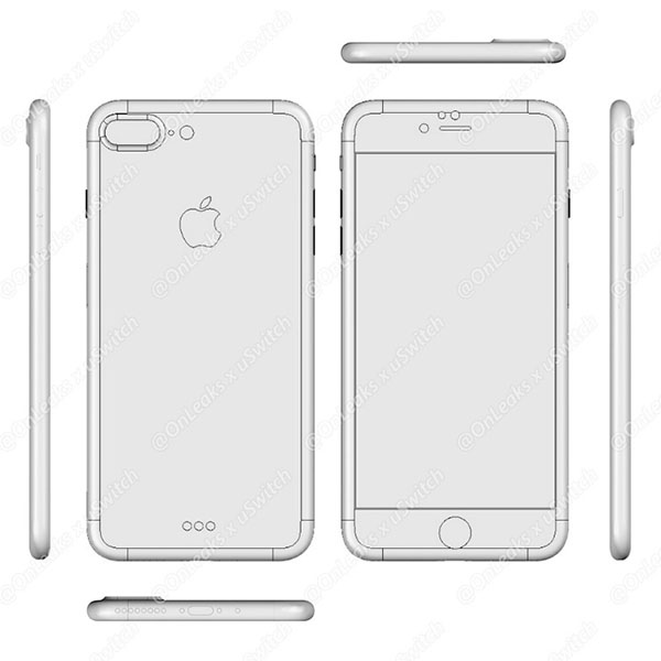 Posible boceto del iPhone 7 Plus
