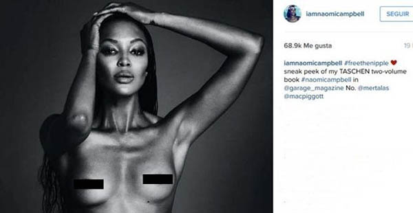 Naomi Campbell y su #freethenipple