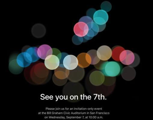 Imagen de la invitación a la Keynote de Apple.