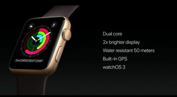 Anunciado el Apple Watch Series 2 con capacidad para sumergirse 50 metros