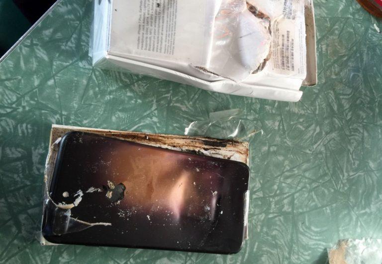 iPhone 7 que explotó