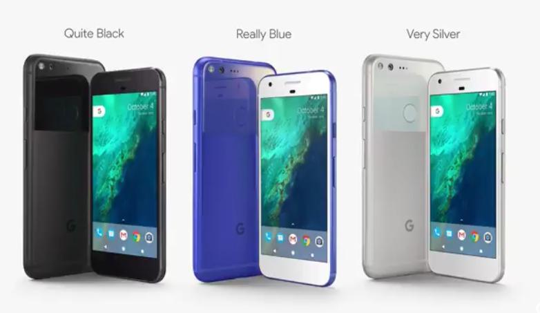 Diferentes colores de Google Pixel