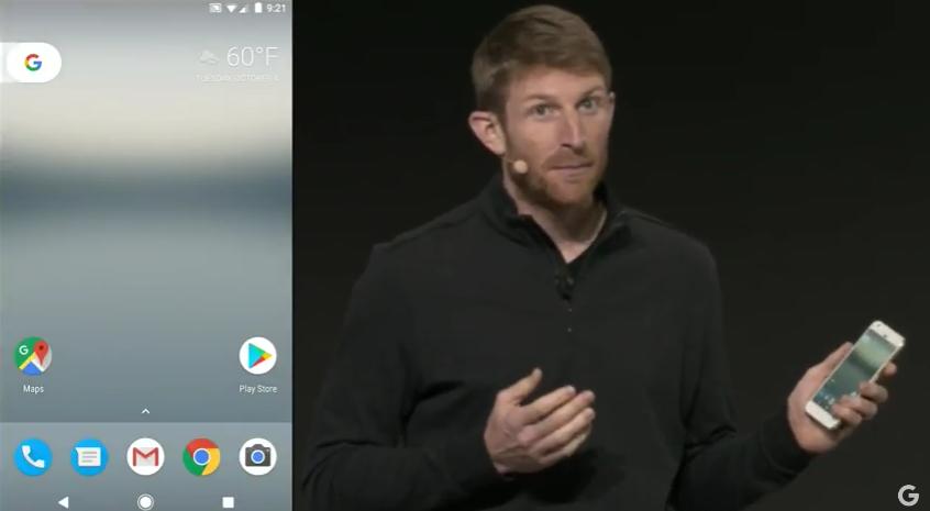Interfaz de Google Pixel