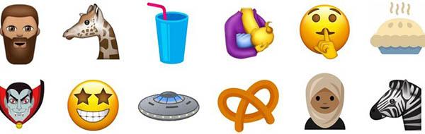 Así son algunos de los nuevos emojis