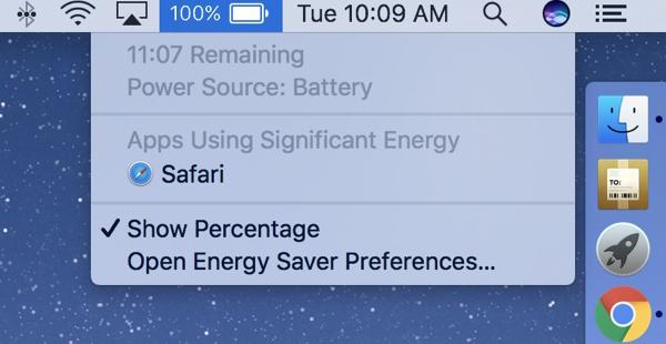 Ya no aparecerá el indicador de la batería restante