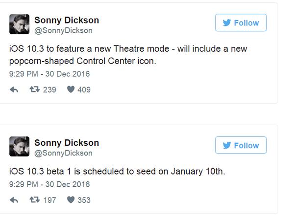 Sonny Dickson ha dado la información