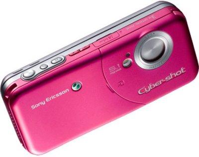 Nuevo y rosa Sony Ericsson W61S Cyber-Shot