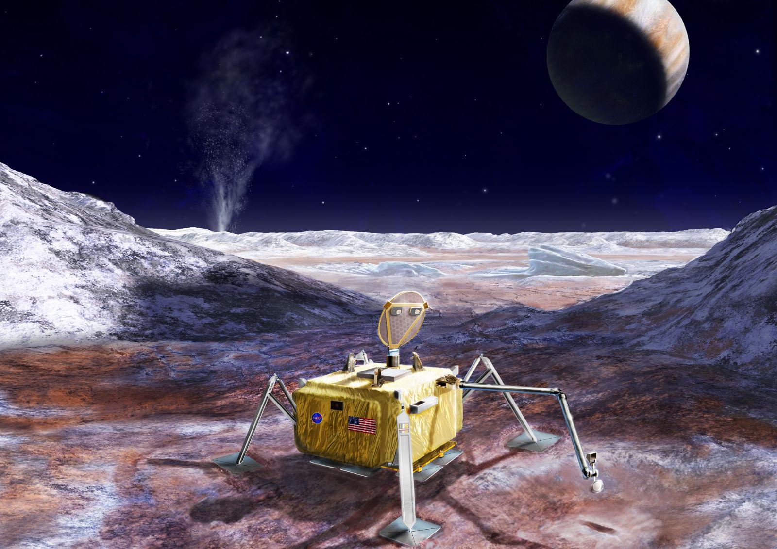 Propuesta de la sonda que se enviaría a Europa