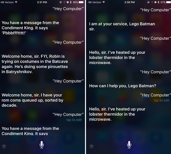 Respuestas de Siri tras la película de Batman