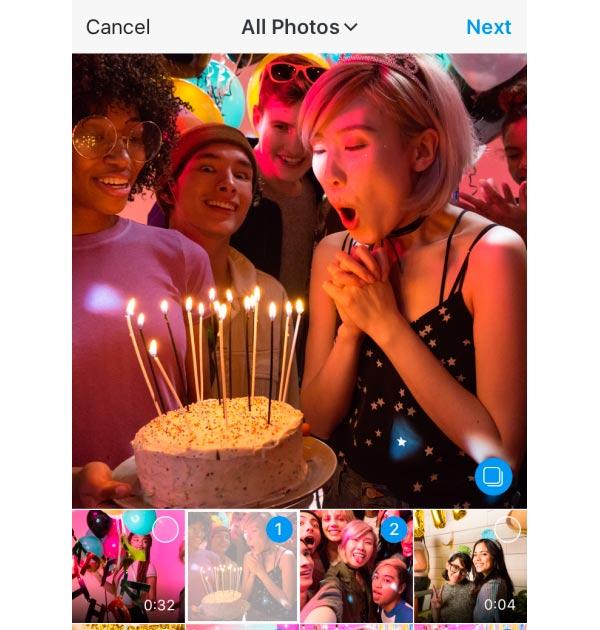 Instagram añade la función de fotografía múltiple en su nueva actualización