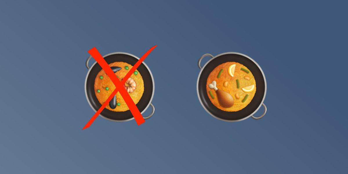 Cambio del emoji de la paella