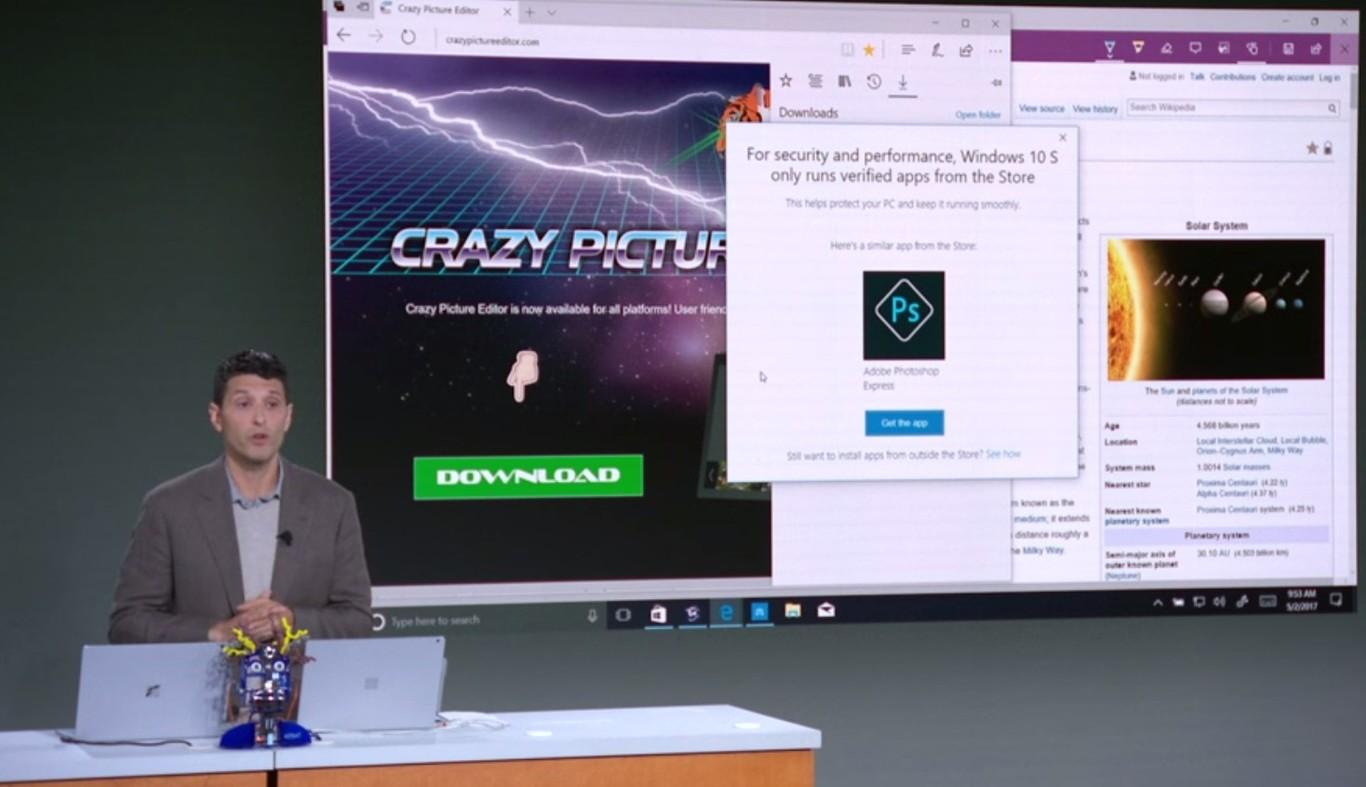 Muestra de las aplicaciones en la Windows Store