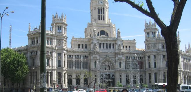 Palacio de Cibeles, sede del Ayuntamiento de Madrid