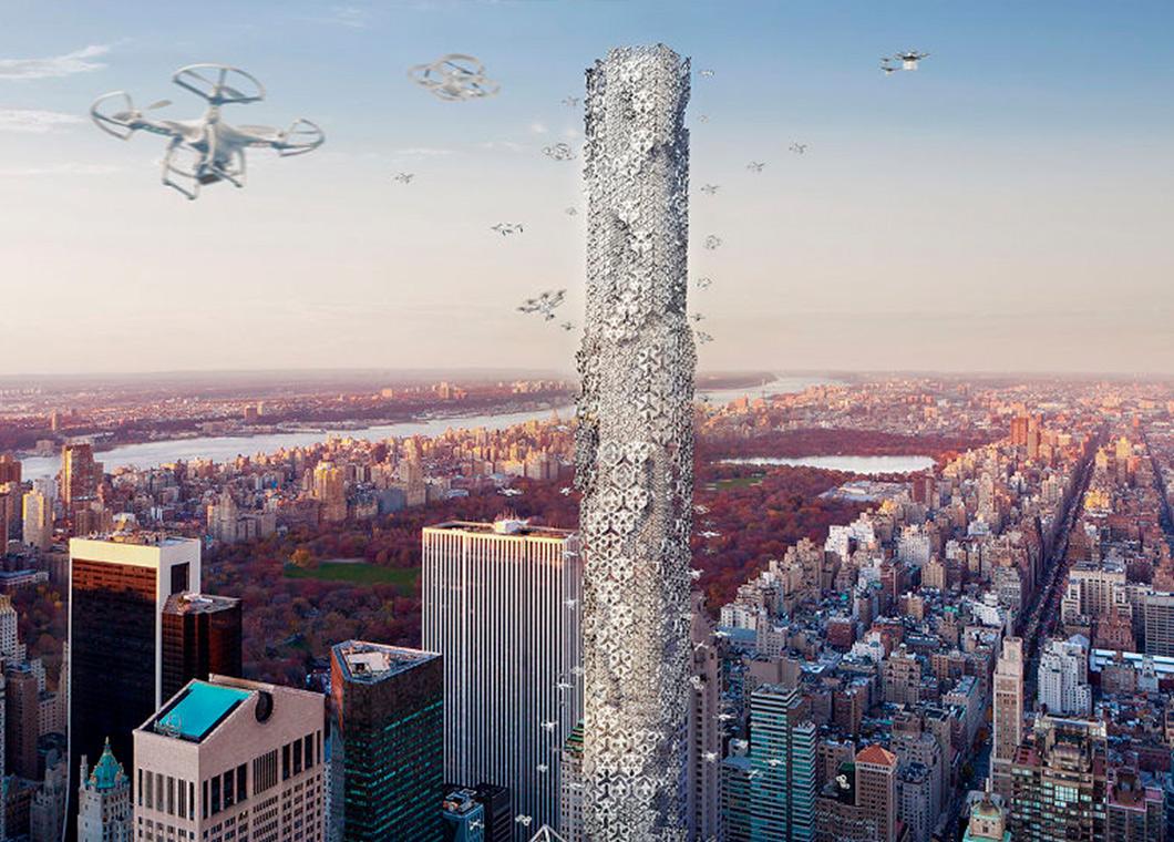 Amazon patenta las colmenas de drones para reparto de envíos