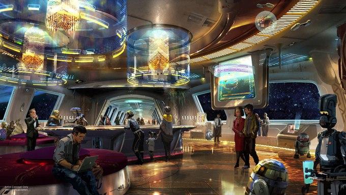 Concept Art del hotel de Star Wars