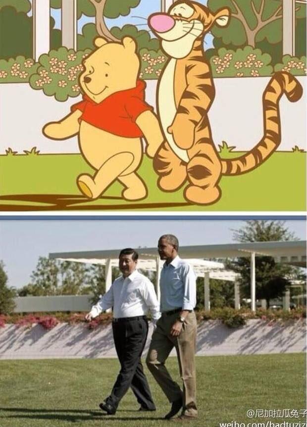 Imagen del supuesto parecido con Xi Jinping