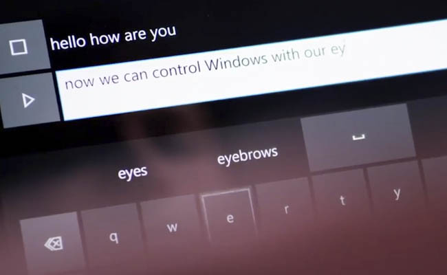 Eye Control en Windows 10