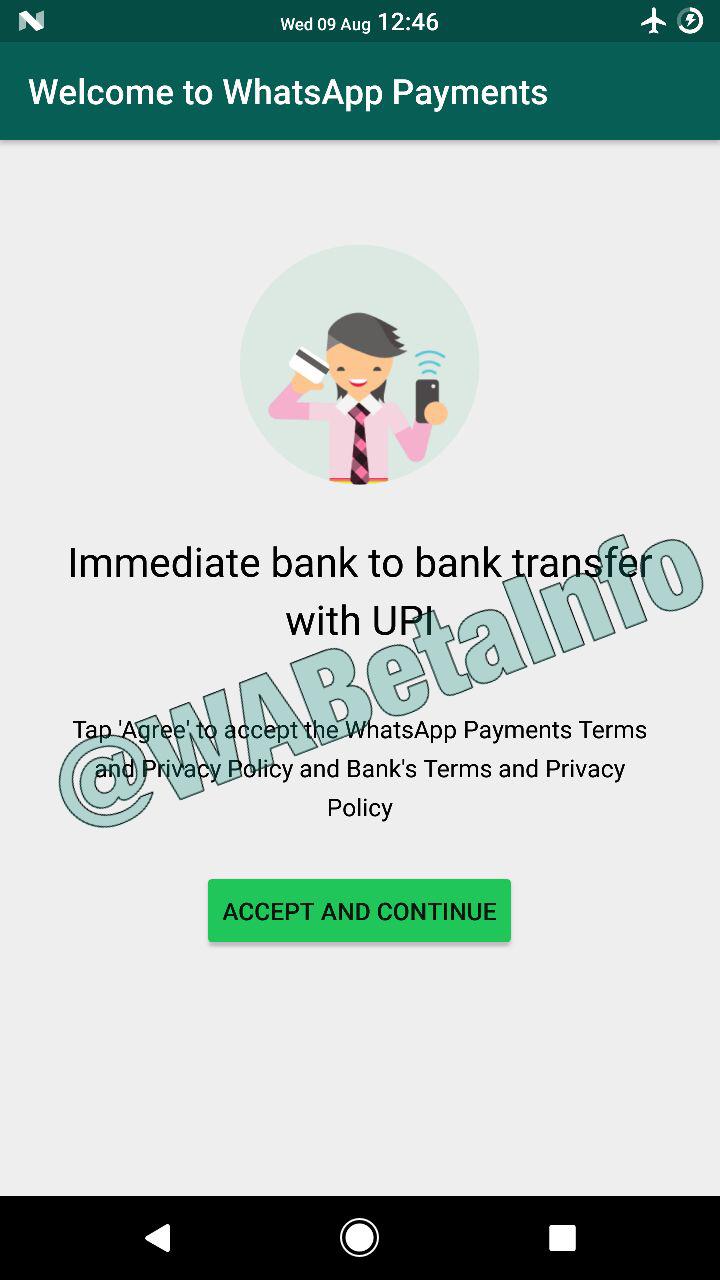 WhatsApp ya tiene implementado un sistema de pagos en su aplicación de Android