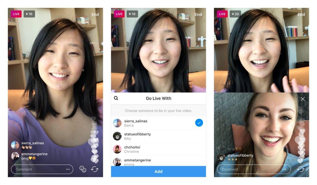 Instagram está probando una función para hacer directos con amigos