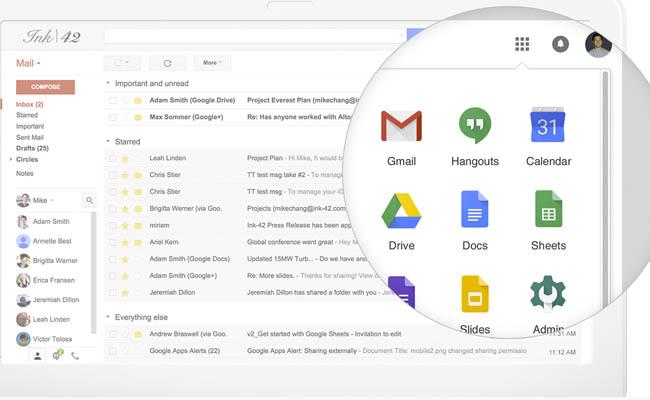 Actualización para G Suite de Google