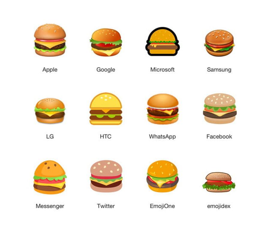 Todas las hamburguesas en versión emoji