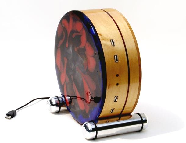 Disco duro externo en madera de arce