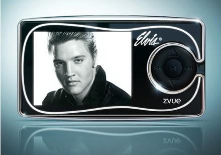 Reproductor de ZVUE que recuerda a Elvis Presley