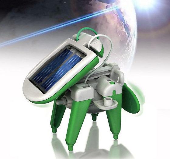 El robot 6 en 1 que funciona con energía solar