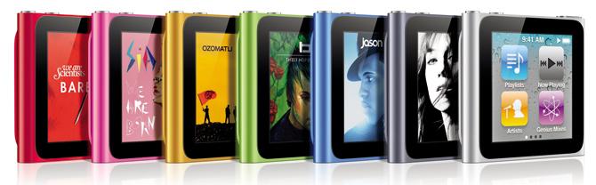 El nuevo iPod Nano, adiós a la click wheel