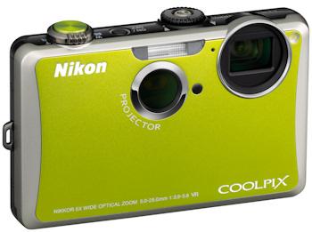 Modelo verde de la Nikon Coolpix S1100pj