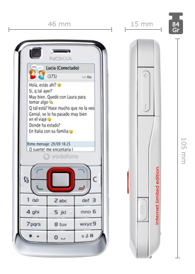 Nokia 6120 Internet Limited Edition de Vodafone