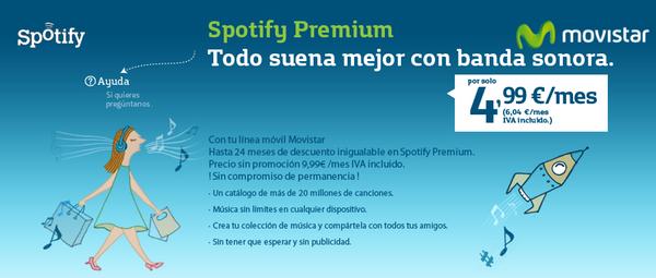 La oferta promocional entre Movistar y Spotify