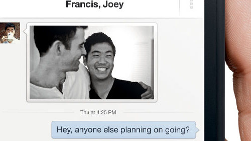 Mensajería con Facebook Home