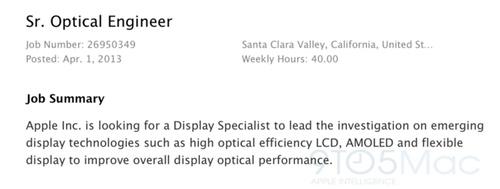 Oferta de trabajo de Apple