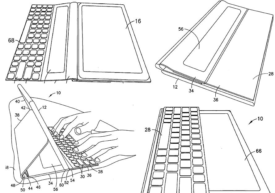 Boceto de la tablet de Nokia extraído de la oficina de patentes e EE.UU