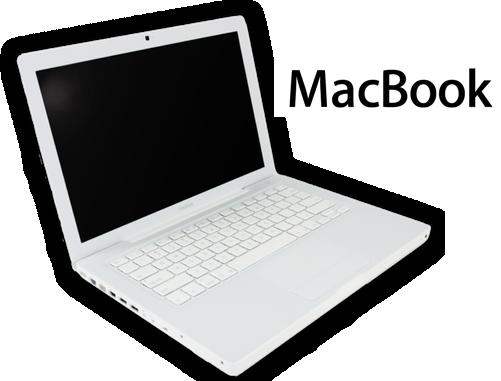 Macbook blanco ,el mismo con el defecto de la base de goma