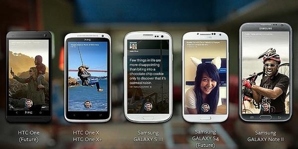Dispositivos móviles con acceso a Facebook Home