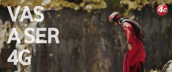 Captura del anuncio con el que Vodafone promociona su servicio 4G