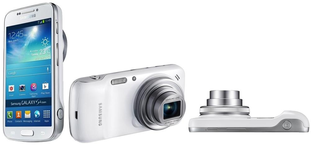 Galaxy S4 Zoom visto desde tres perspectivas