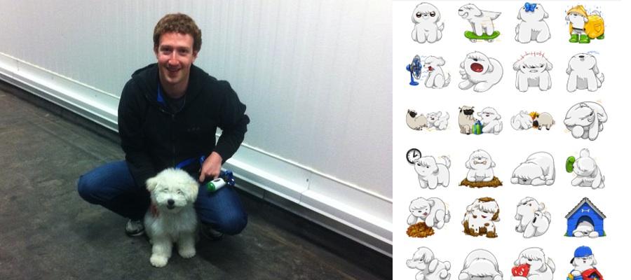 Sticker imessage - El Perro De Zuckerberg Se Convierte En Sticker Para