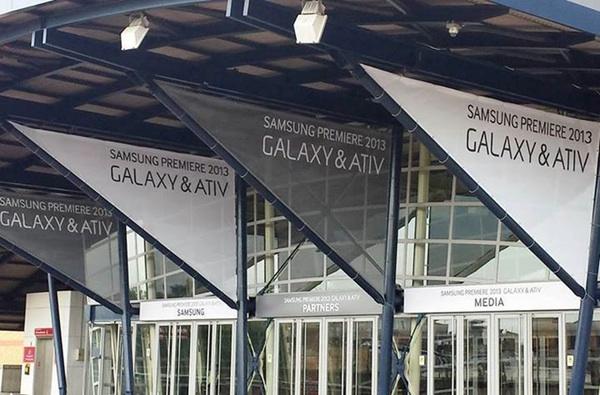 Samsung en el último evento celebrado en Londres en el que presentó varios dispositivos