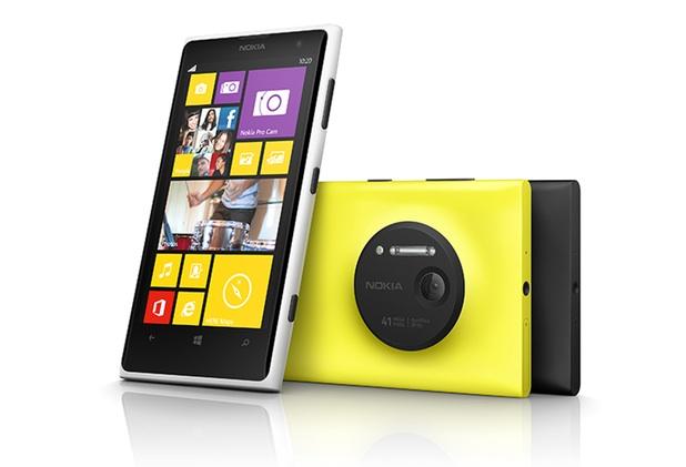 El Lumia 1020 estará disponible en tres colores: amarillo, blanco y negro