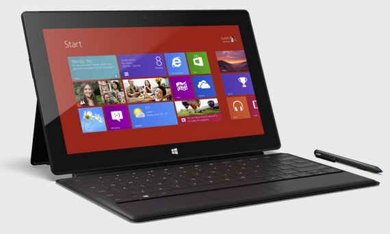Surface RT con TouchCover y Stylus
