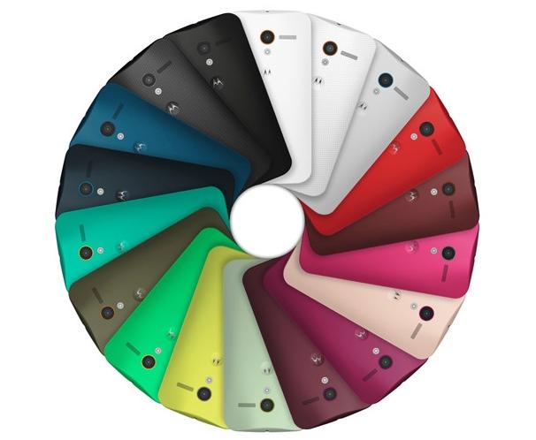 Estos son todos los colores disponibles para Moto X