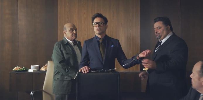 Momento del nuevo anuncio de HTC con Robert Downey Jr.