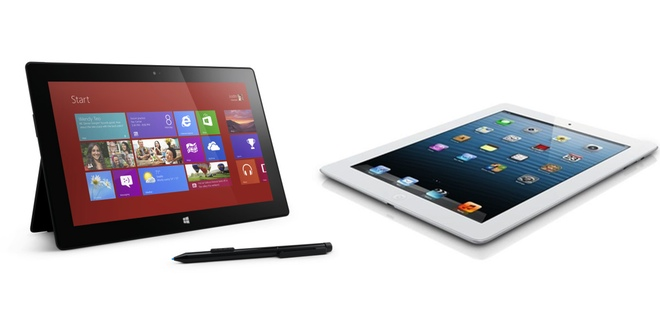 Por el momento iPad supera ampliamente a Surface