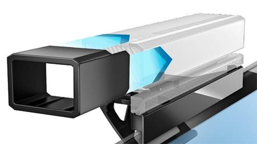 El socorrido accesorio actúa a modo de 'capucha' sobre la zona de cámaras.